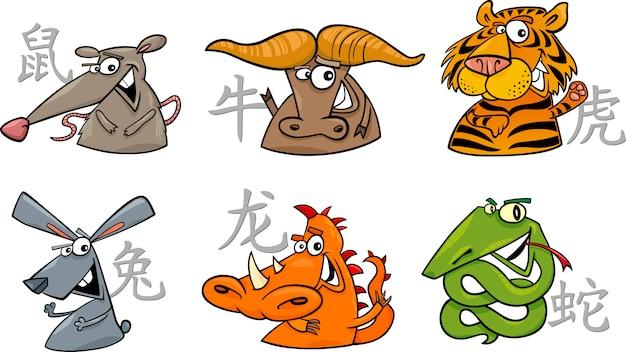 Seis signos do zodíaco chinês