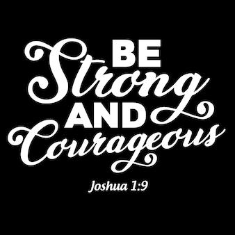 Seja forte e corajoso lettering