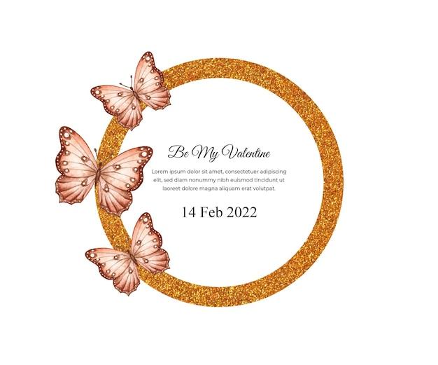 Seja meu cartão de dia dos namorados com lindas borboletas