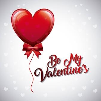 Seja meu valenton balloon heart fly bow decoration