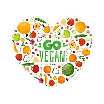 Seja vegano. ótima composição vegetariana