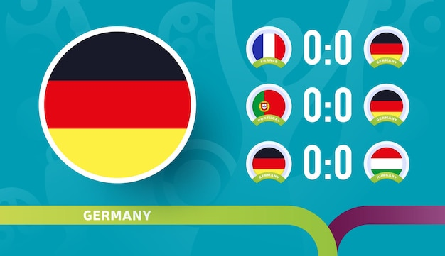 Seleção da alemanha programar partidas na fase final do campeonato de futebol de 2020
