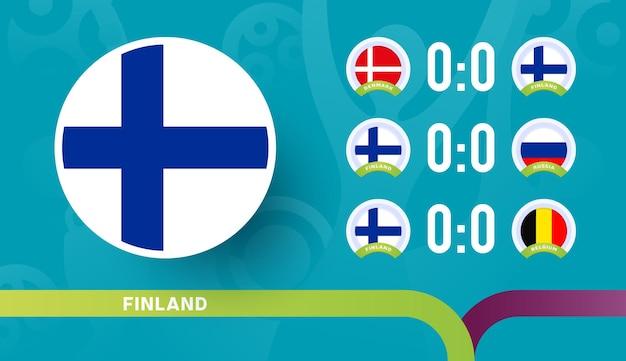 Seleção da finlândia programar partidas na fase final do campeonato de futebol de 2020