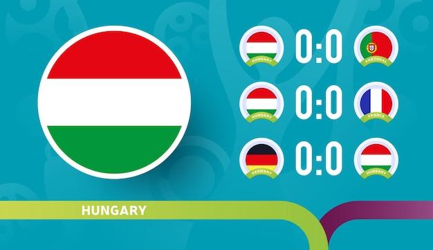 Seleção da hungria programar partidas na fase final do campeonato de futebol de 2020