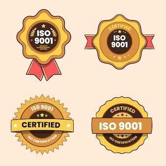 Seleção de crachá de certificação iso