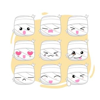 Seleção de emoticons de múmia