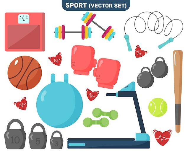 Seleção de equipamentos esportivos