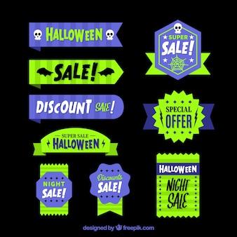 Seleção de etiquetas da venda do dia das bruxas
