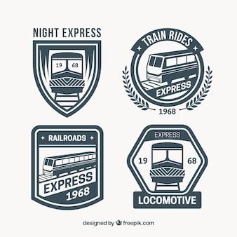 Seleção de grandes logotipos de trem