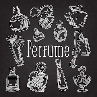 Seleção de ilustrações de perfume