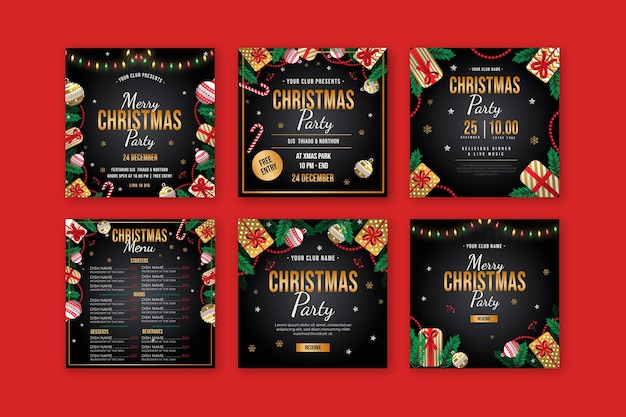Seleção de postagens de natal no instagram