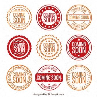 Seleção de selos de promoção redonda
