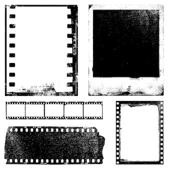 Seleção de texturas de filmes antigos desgastados