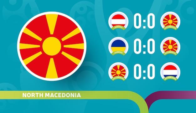 Seleção do norte da macedônia programar partidas na fase final do campeonato de futebol de 2020