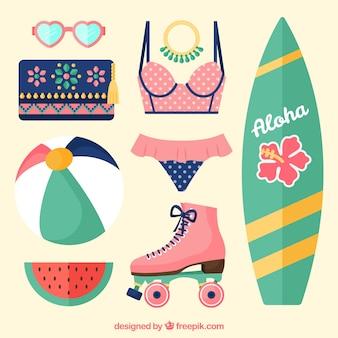 Seleção fantástica de artigos de verão planos