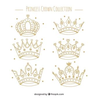 Seleção fantástica de coroas de princesa
