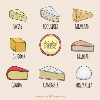 Selecção queijos deliciosos
