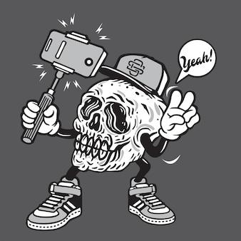 Selfie de caveira morta