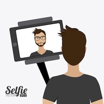 Selfie design, ilustração vetorial.