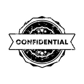 Selo confidencial. vetor. ícone do crachá confidencial. logotipo do crachá certificado. modelo de carimbo. etiqueta, etiqueta, ícones. vetor eps 10. isolado no fundo branco.