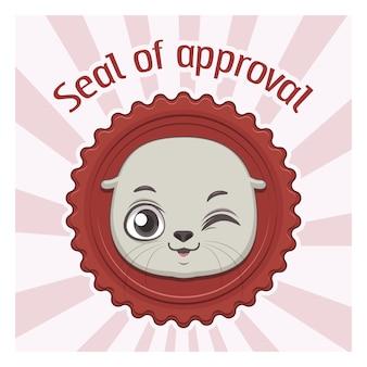 Selo de aprovação fundo