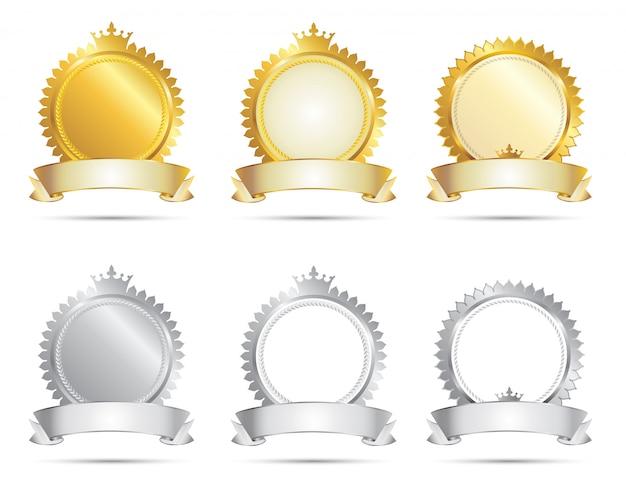 Selo de aprovação gold & silver set