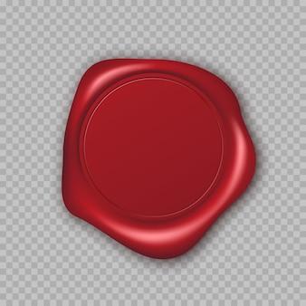 Selo de cera vermelha