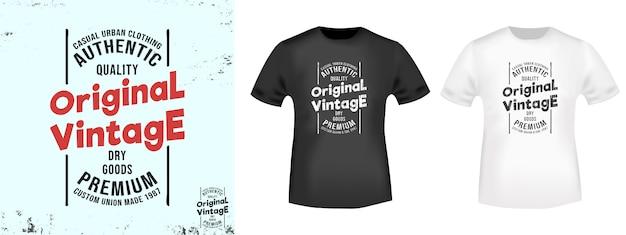 Selo de impressão de t-shirt original do vintage