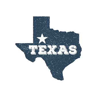 Selo de mapa do vetor de texas