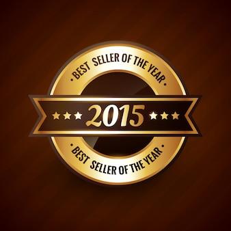 Selo de ouro do melhor vendedor do ano