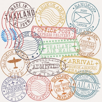 Selo de qualidade de passaporte postal bangkok tailândia
