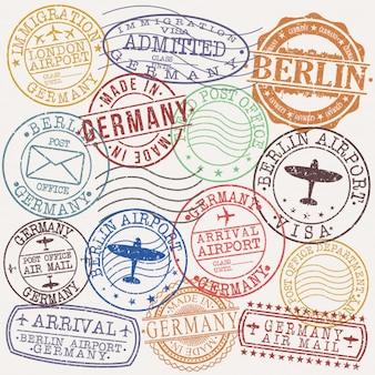 Selo de qualidade de passaporte postal de berlim alemanha