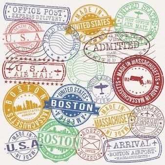 Selo de qualidade de passaporte postal de boston massachusetts