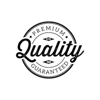 Selo de qualidade premium vintage e elementos