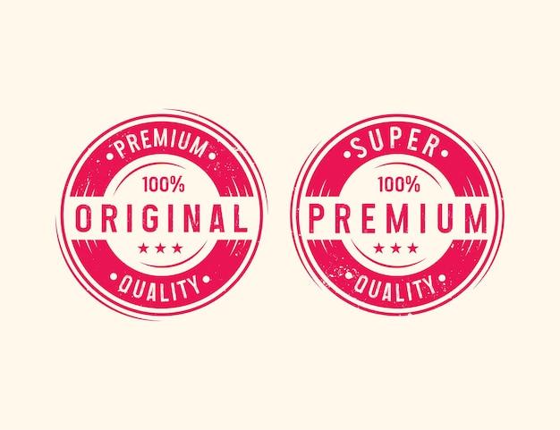 Selo de tipografia grunge afligido premium e original para produtos ou vestuários