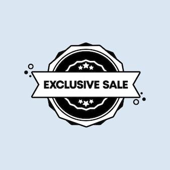 Selo de venda exclusivo. vetor. ícone do emblema de venda exclusivo. logotipo do crachá certificado. modelo de carimbo. etiqueta, etiqueta, ícones. vetor eps 10. isolado no fundo branco.