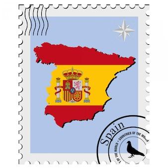 Selo de vetor com os mapas de imagem da espanha
