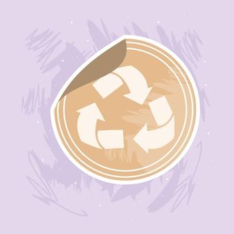 Selo do símbolo de reciclagem