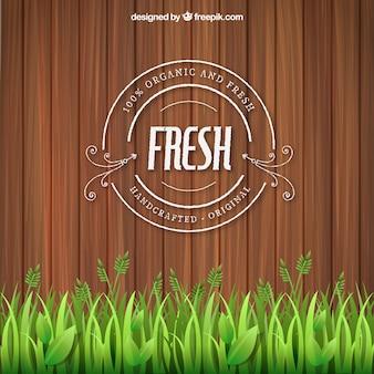 Selo orgânico e fresco