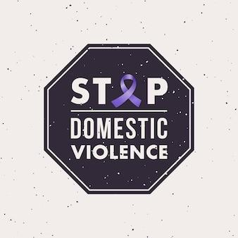 Selo pare a violência doméstica com mês de conscientização