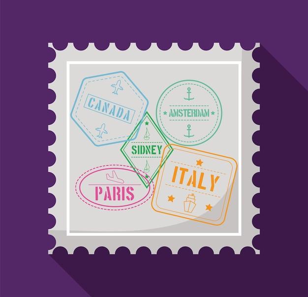 Selo postal com selos