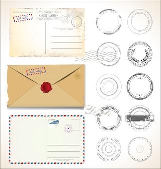Selo postal e cartão postal