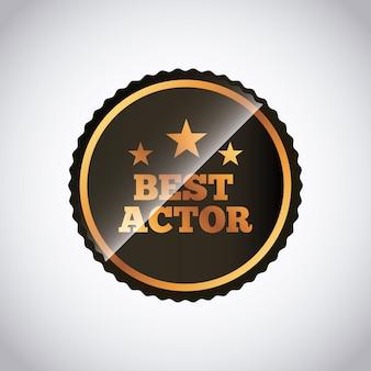 Selo selo do conceito de prêmios de atores