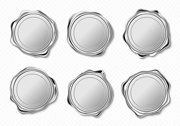Selos de cera de prata