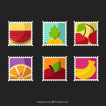 Selos de frutas