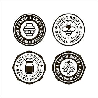 Selos de mel fresco