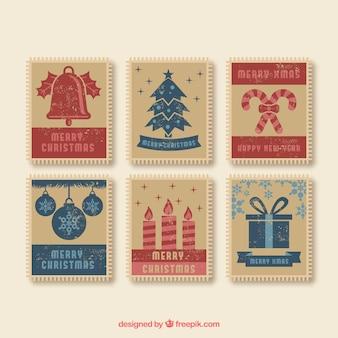 Selos de natal vintage