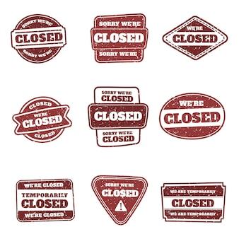Selos de selo fechado desenhados à mão