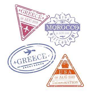 Selos de viagem para avião