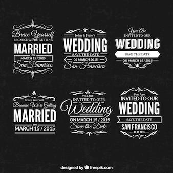 Selos do casamento ajustadas